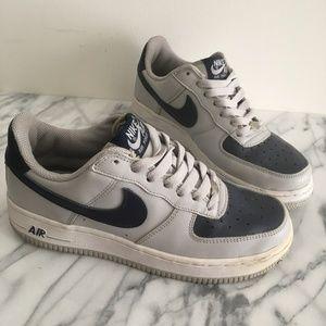 Nike OG Air Force 1 Grey / Navy GS 5 Womens 6.5